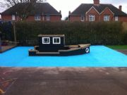 RD Paving – Blue Groovy Grass for Playground