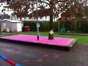 RD Paving – Pink Groovy Grass for Playground