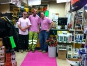 Travis Perkins Lymm – Pink Groovy Grass – Cancer Awa