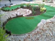 Adams Landscapes Intall Mini Golf hole 5 - Verdegrass & Verd