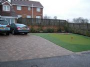 Briar Lea Landscapes install a Putting Green in front garden
